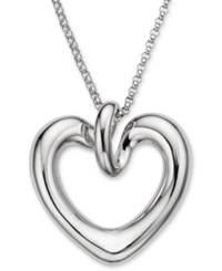 Nambe Heart Pendant Necklace In Sterling Silver
