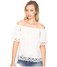 Bb Dakota Curren Lace Off The Shoulder Top Ivory Women's Clothing White