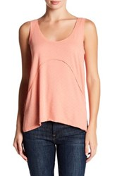 Melrose And Market Pointelle Textured Cross Detail Tank Pink