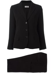 Alberto Biani Three Button Blazer Black