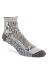 Men's Wigwam 'Ultra Cool Lite' Quarter Socks Grey