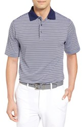 Bobby Jones Men's Cabana Stripe Stripe Polo Summer Navy