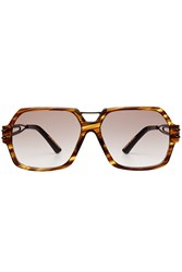 Roland Mouret Oversize Square Sunglasses Brown