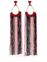 Missoni Long Fringe Earrings Multicolor