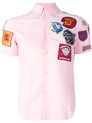 Dsquared2 Patch Short Sleeved Shirt Pink Purple
