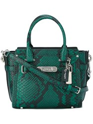 Coach Snakeskin Tote Green