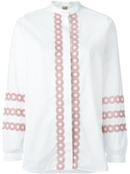 Fay Embroidered Shirt White