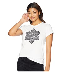 Life Is Good Primal Flower Crusher T Shirt Cloud White T Shirt