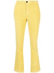 Department 5 Flared Corduroy Trousers Yellow And Orange