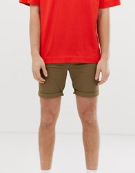 Selected Homme Chino Shorts In Organic Cotton Beige