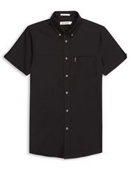 Ben Sherman Classic Oxford Short Sleeved Shirt Jet Black