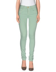Fornarina Denim Denim Trousers Women Light Green