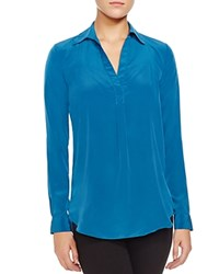 Zoa Rose Skin Collared Long Sleeve Shirt Compare At 119 Teal