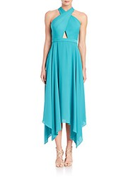 Bcbgmaxazria Halter Cutout Dress Bright Emerald