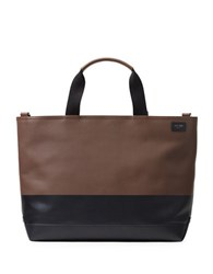 Jack Spade Colorblock Dipped Leather Satchel Brown Black