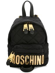 Moschino Mini Quilted Backpack Black