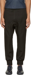 Neil Barrett Black Linen Blend Lounge Pants
