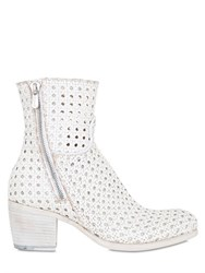 Rocco P. 50Mm Perforated Woven Leather Boots