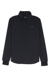 The North Face Mountain Snap Neck Sweatshirt Tnf Black Tnf Black