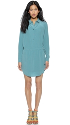 Haute Hippie Shirtdress With Side Drawstring Tie Bristol Blue