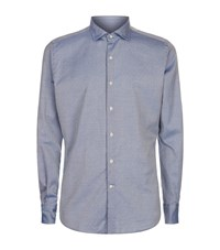 Slowear Micro Dot Casual Shirt Male Blue