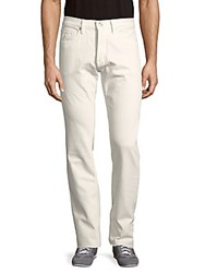 Tom Ford Straight Fit Solid Cotton Pants White