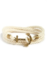 Kiel James Patrick 'Atlantic Whaler's Cord' Wrap Bracelet White