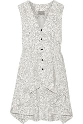 Maiyet Printed Silk Crepe De Chine Mini Dress Ivory