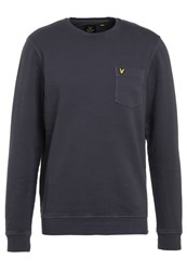 Lyle And Scott Sweatshirt Washed Grey Blue Grey