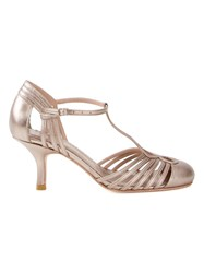 Sarah Chofakian Strappy Pumps Metallic