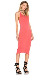 Stateside Supima Slub Jersey Racerback Bodycon Dress Red