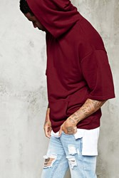 Forever 21 Short Sleeved Hoodie Burgundy