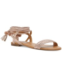 Inc International Concepts Women's Ganice Two Piece Lace Up Sandals Only At Macy's Women's Shoes Pearl Rose