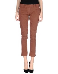 Manila Grace Denim Casual Pants Brick Red