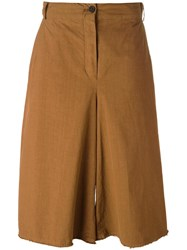 Damir Doma 'Pris' Wide Leg Cropped Trousers Yellow Orange
