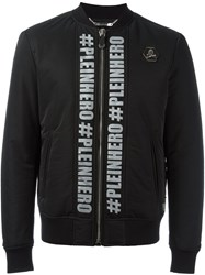Philipp Plein 'You Are The Hero' Bomber Jacket Black
