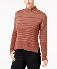 Calvin Klein Jeans Striped Boucle Sweater Dark Taupe