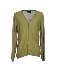 Vneck Knitwear Cardigans Men Military Green