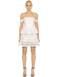 Self Portrait Corset Style Tiered Lace Dress