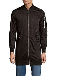 Members Only Long Sleeve Zip Front Jacket Black