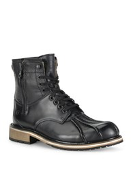 Andrew Marc New York Rutland Two Tone Leather Boots Asphalt