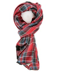 Denim And Supply Ralph Lauren Red Multi Navajo Cotton Scarf