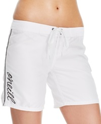 O'neill Cover Up Logo Board Shorts Women's Swimsuit White