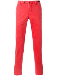 Pt01 Washed Trousers Men Cotton Spandex Elastane 52 Red