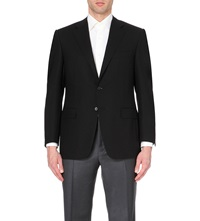 Canali Single Breasted Wool Jacket Black