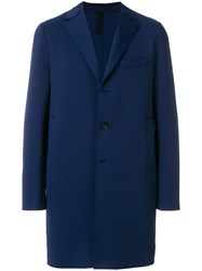 Harris Wharf London Single Breasted Coat Blue