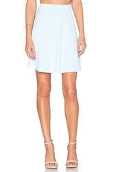 Susana Monaco High Waist Flared Skirt Blue