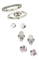 Women's Berry 'Empress' Earring And Ring Pack Set Of 5