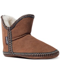 Muk Luks Amira Bootie Slippers Women's Shoes Light Brown