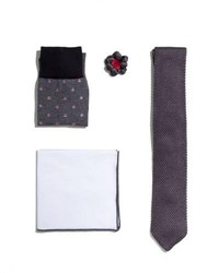 Hook Albert Shop The Look Suiting Accessories Set Charcoal